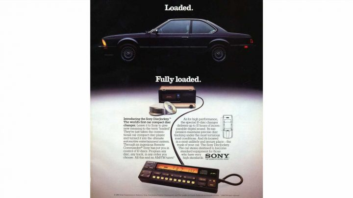 In 1986 Sony Introduced the Car CD Changer and Installed It In BMW 6-Series