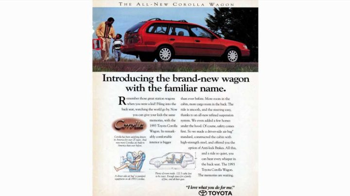 1993: Toyota Corolla Wagon Like Those Great Station Wagons of Your Childhood