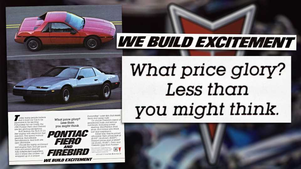 Ad of the Week: When Pontiac Pushed a Pair of 'Economic' Supercar Wannabes