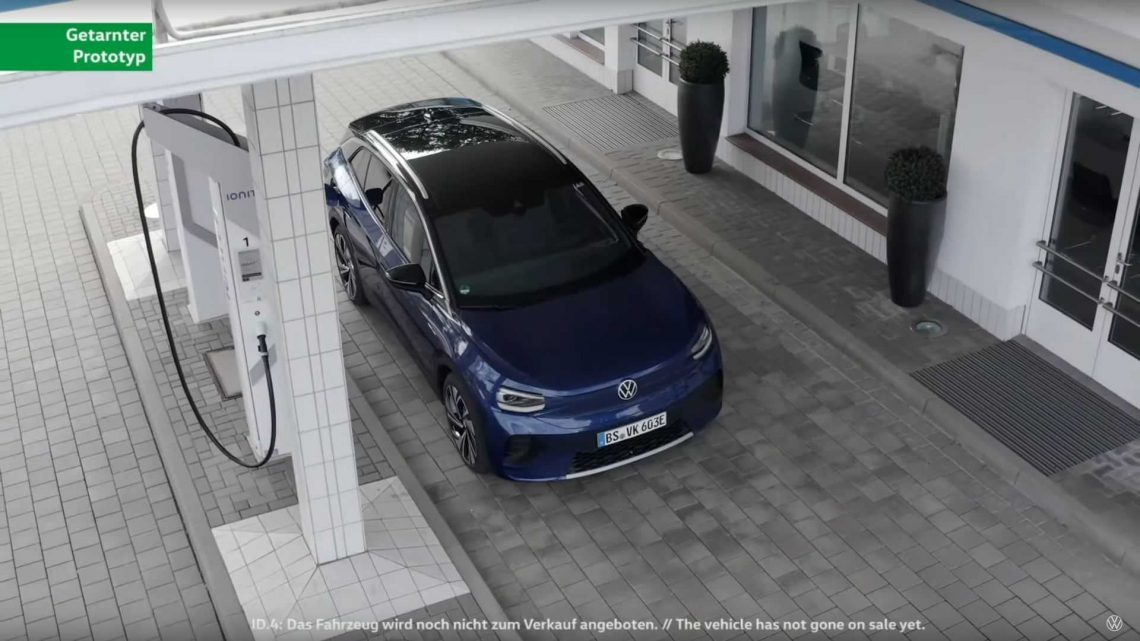 Volkswagen Teases ID.4 Charging At IONITY Station