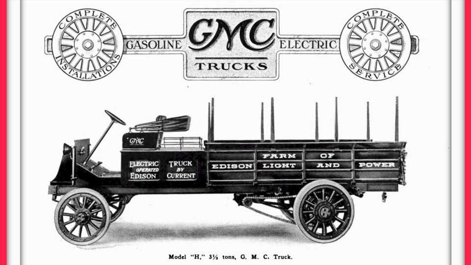 Forget the Hummer EV: GMC Made an Electric Truck in 1913 Called the Model 3