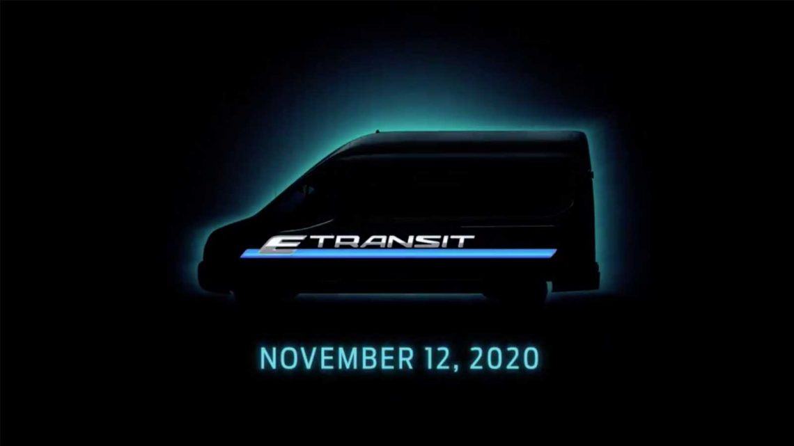 Pure-electric Ford E-Transit teased on Twitter