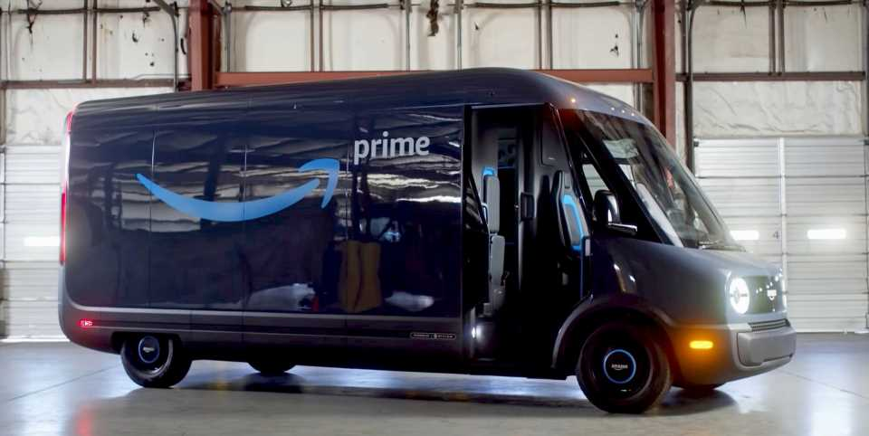 Amazon Unboxes the First Electric Van from Rivian