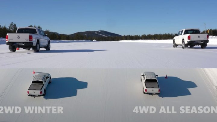 What Works Best In Snow: RWD And Winter Tyres, Or 4WD And All-Seasons?