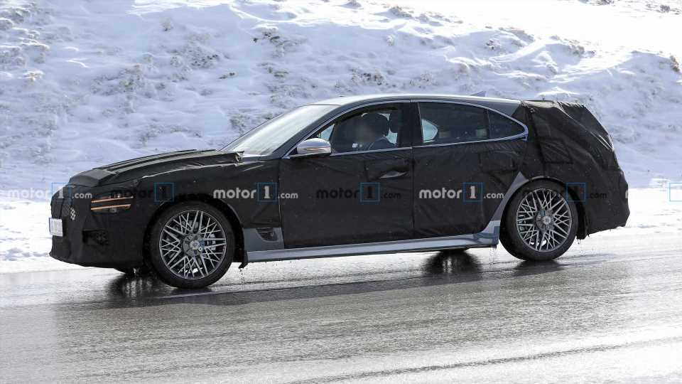 Genesis G70 Wagon Spied Testing In The Alps