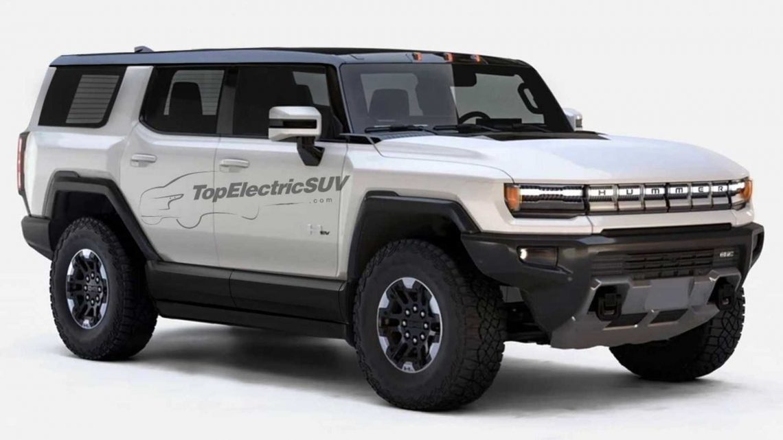 GMC Hummer EV SUV Rendering Shows The Lineup's Rugged  Future