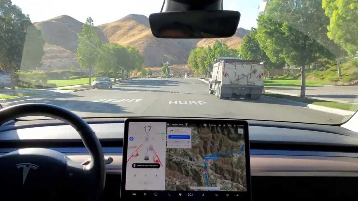 Tesla's Full Self-Driving Beta 'Learns' Roundabouts And Speed Bumps