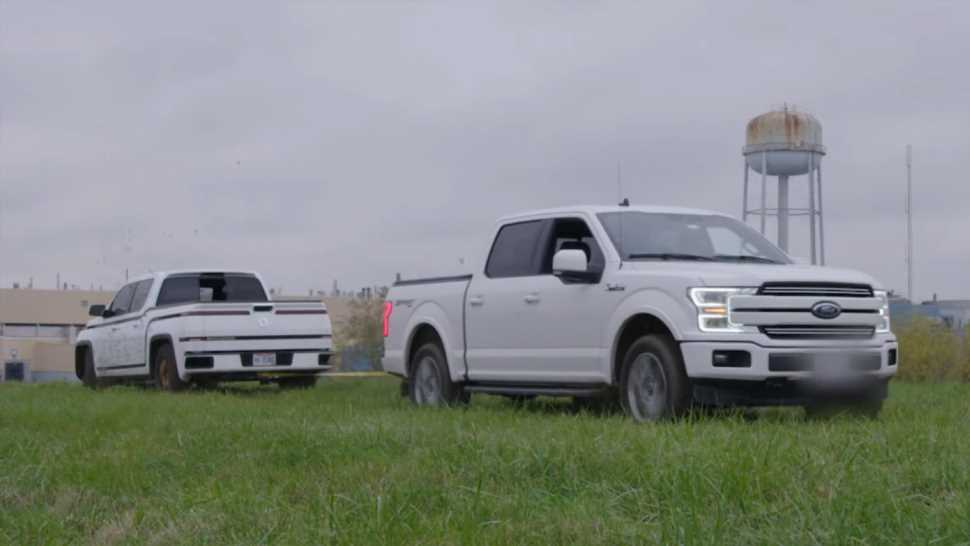 This 2021 Lordstown Endurance vs. 2019 Ford F-150 Tug of War Was More Like a Tow of Tug