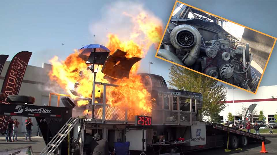 The Aftermath of a 3,000-HP Dodge Cummins Diesel That Exploded on the Dyno