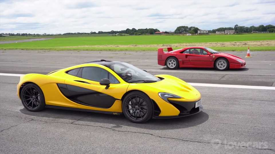Ferrari F40 vs. McLaren P1 Drag Race Shows What a Difference 25 Years Can Make