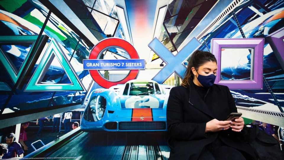 Gran Turismo 7 Gets Its Own London Underground Station in PS5 Launch Stunt