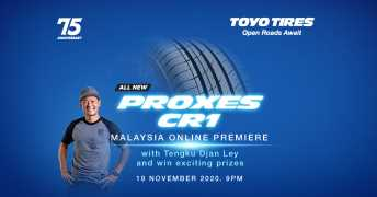 Toyo Proxes CR1 launching in Malaysia today – watch it live at 9pm and stand a chance to win a set of tyres – paultan.org