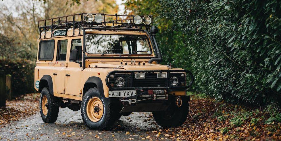 Ex-Camel Trophy Land Rover Defender Support Vehicle Heads to Auction