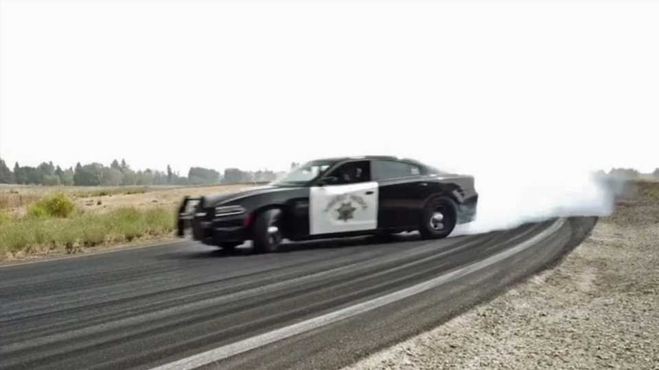 California Police Post Dodge Charger Pursuit Drifting Montage to Remind Us to… Drive Safe?