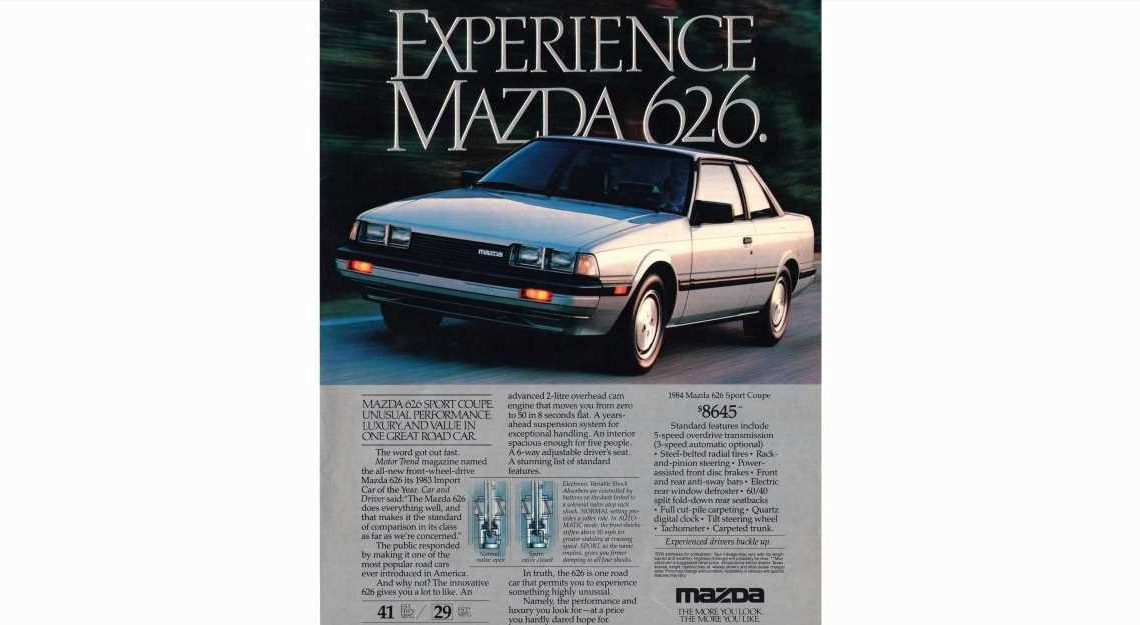 Mazda 626 Sport Coupe One of 1984's Great Deals