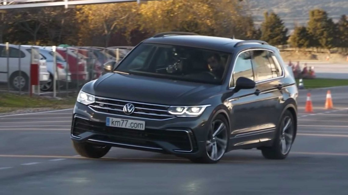 Watch The 2022 VW Tiguan Bounce Off In The Moose Test