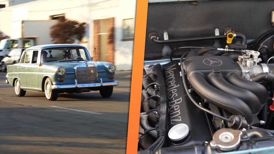 You'd Never Know This 1965 Mercedes-Benz 190D Hides a Boosted BMW Straight-Six
