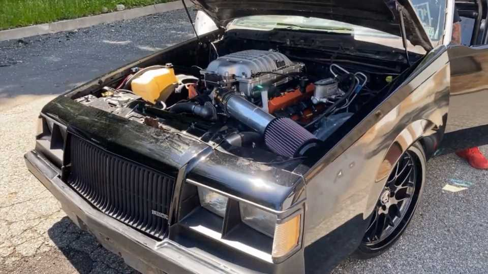 World's First Hellcat-Swapped Buick Grand National Is One Rowdy American Beast