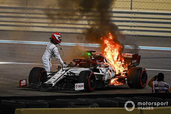 Raikkonen: 'Nothing scary' about FP2 fire