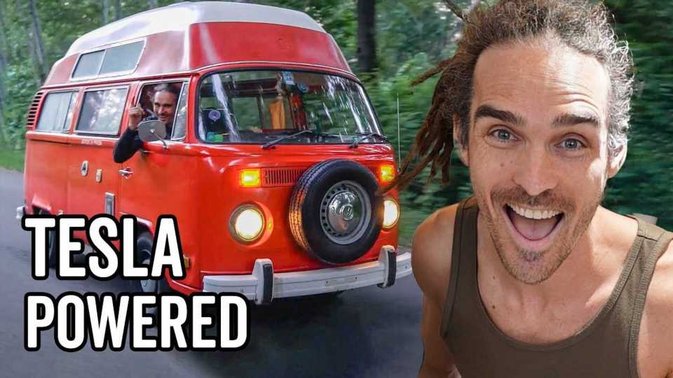Check Out This DIY Tesla-Powered Volkswagen Classic Bus