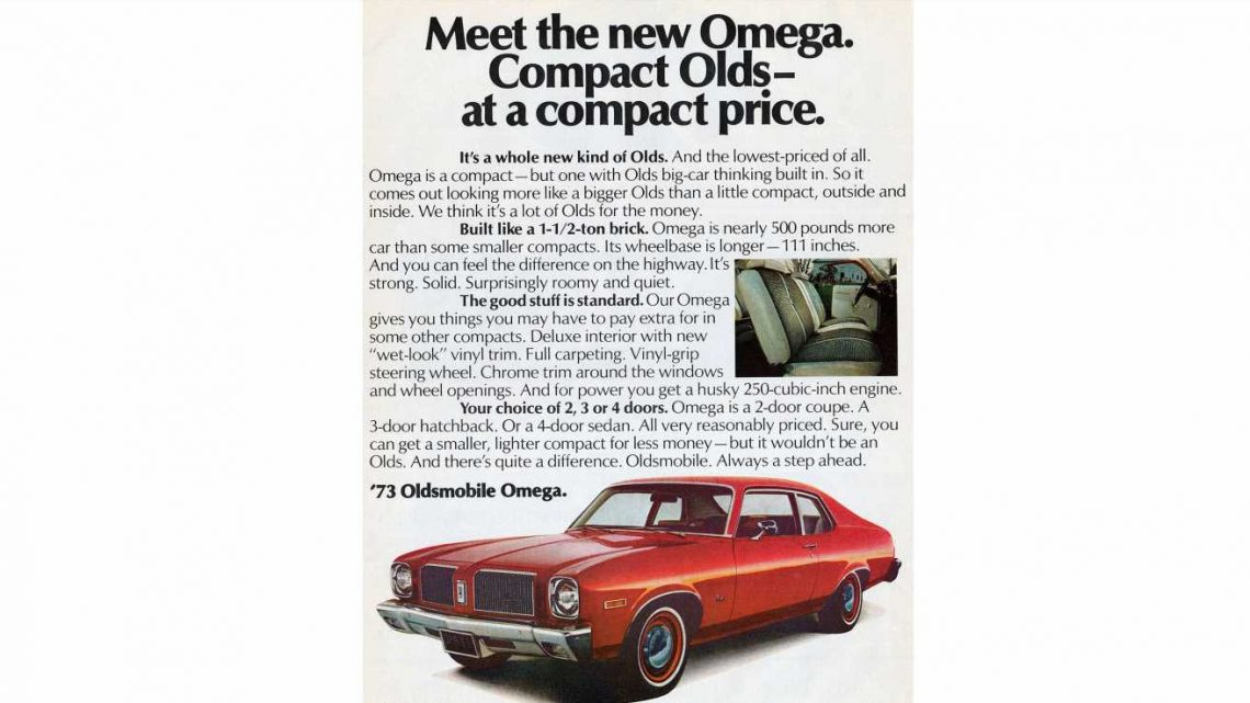 1973 Olds Omega Is Built Like a 1-1\/2-Ton Brick