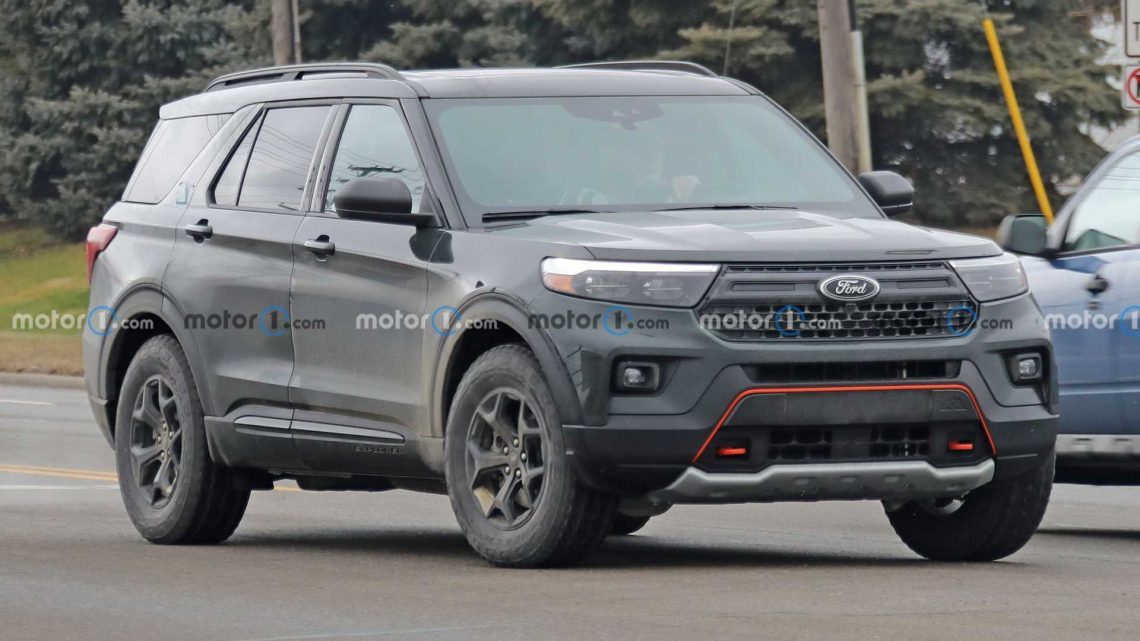 2022 Ford Explorer Timberline Spied Showing Jagged Mountain Emblem