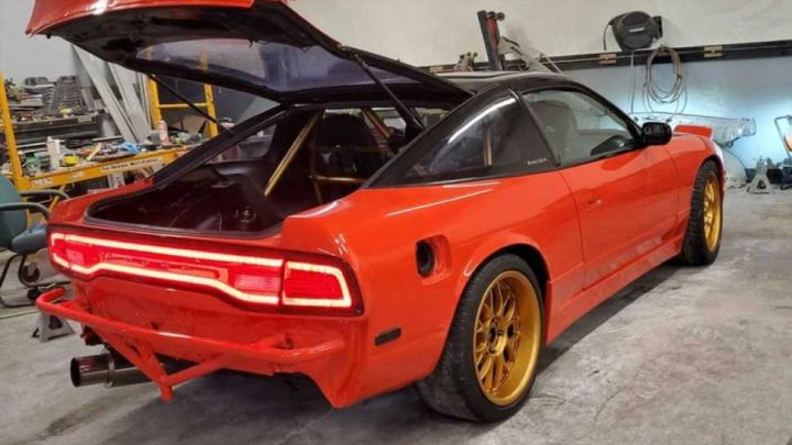 It Is Absolutely Mind-Blowing How Good Dodge Charger Taillights Look on a Nissan 240SX