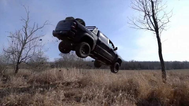 Do It for the Clicks: YouTuber Trashes His Ram 1500 TRX With Huge Jump