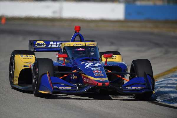 Rossi leads nine-car IndyCar test at Sebring