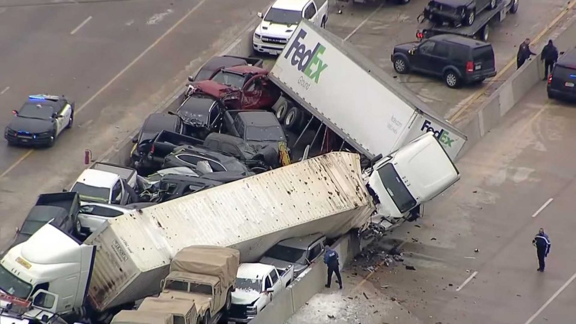 Icy Roads Blamed For Deadly 100-Car Pileup On Texas Highway