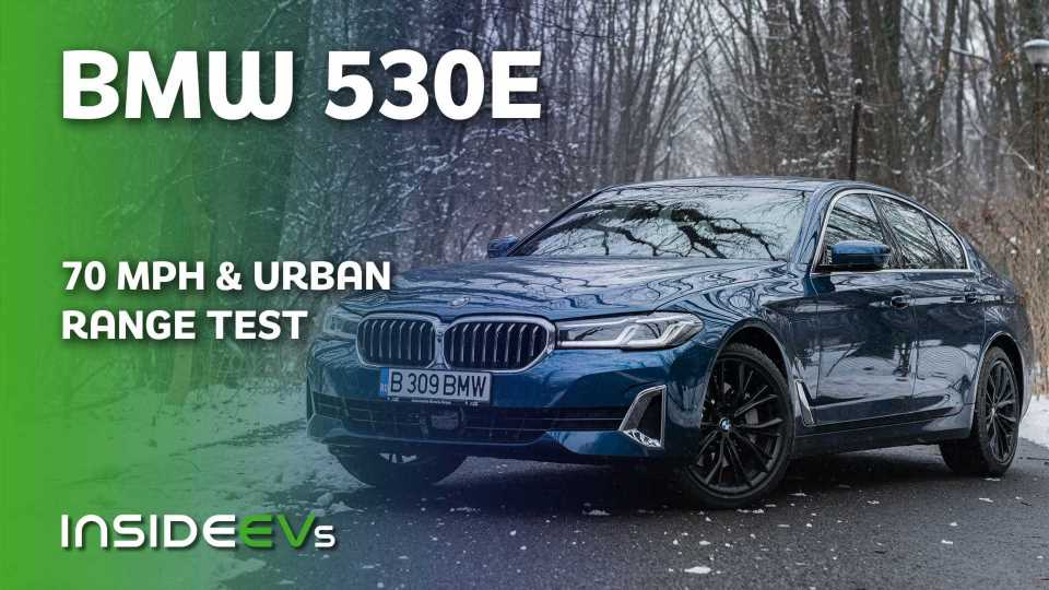 2021 BMW 530e PHEV Highway (70 MPH) And Urban Pure Electric Range Test