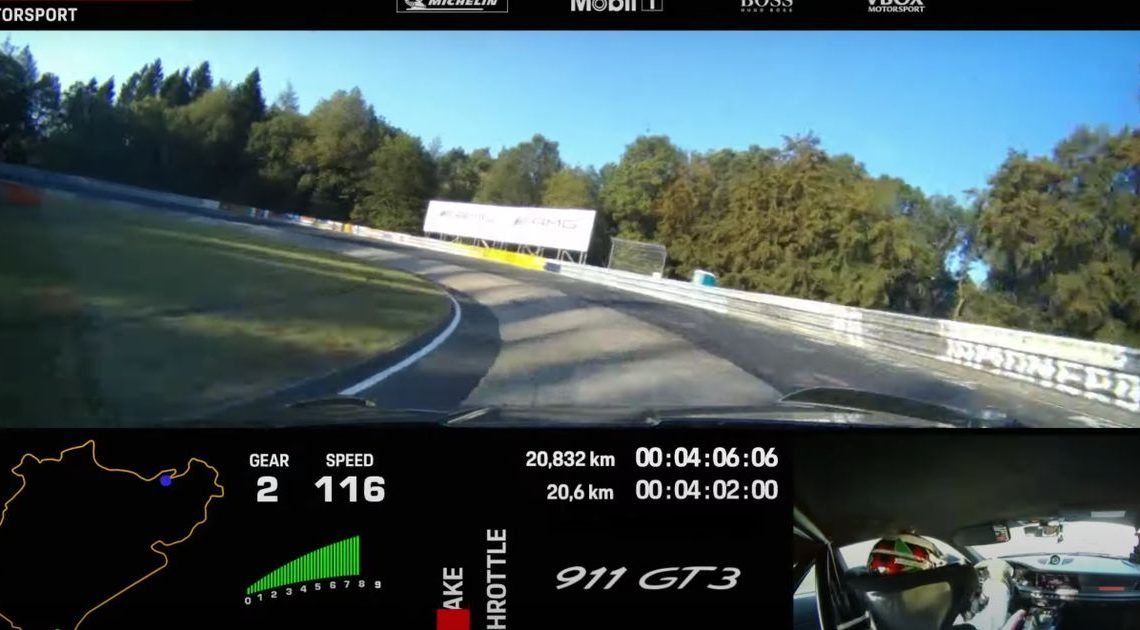 Ride Onboard The 992 Porsche 911 GT3 For A Sub-7min 'Ring Lap