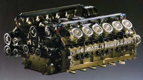 Yes, Subaru Really Built a Flat 12-Cylinder Engine for F1 Racing