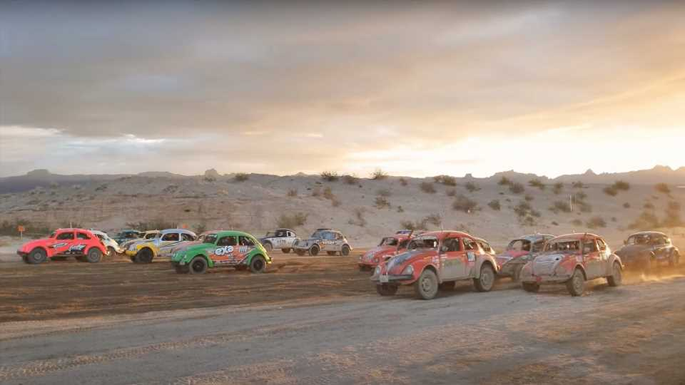Happiness Is a Swarm of VW Beetle Off-Roaders Bouncing Across the Nevada Desert