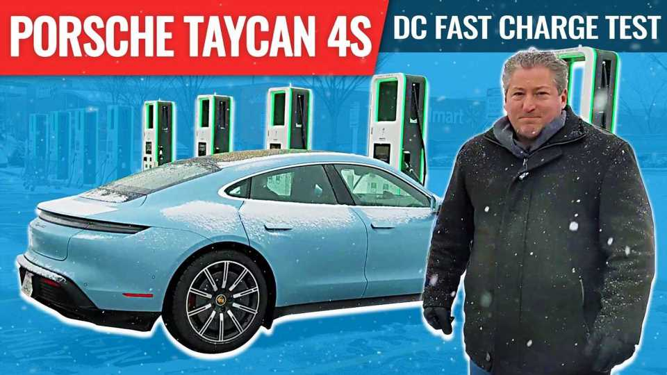 Porsche Taycan 4S Cold Weather DC Fast charge test