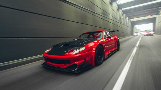 Ferrari 550 Maranello with a JDM Attitude Readjustment Satisfies