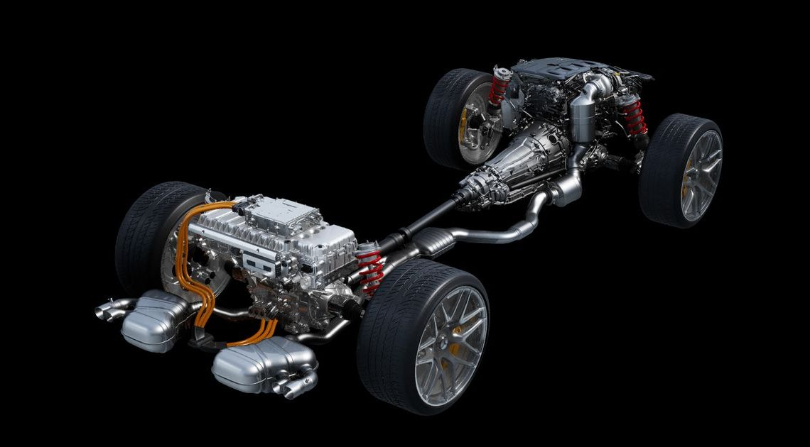 This Is The Mercedes-AMG C63's 600bhp+ I4 Hybrid Powertrain