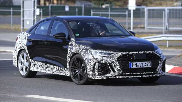 New 2021 Audi RS 3 spied in saloon form