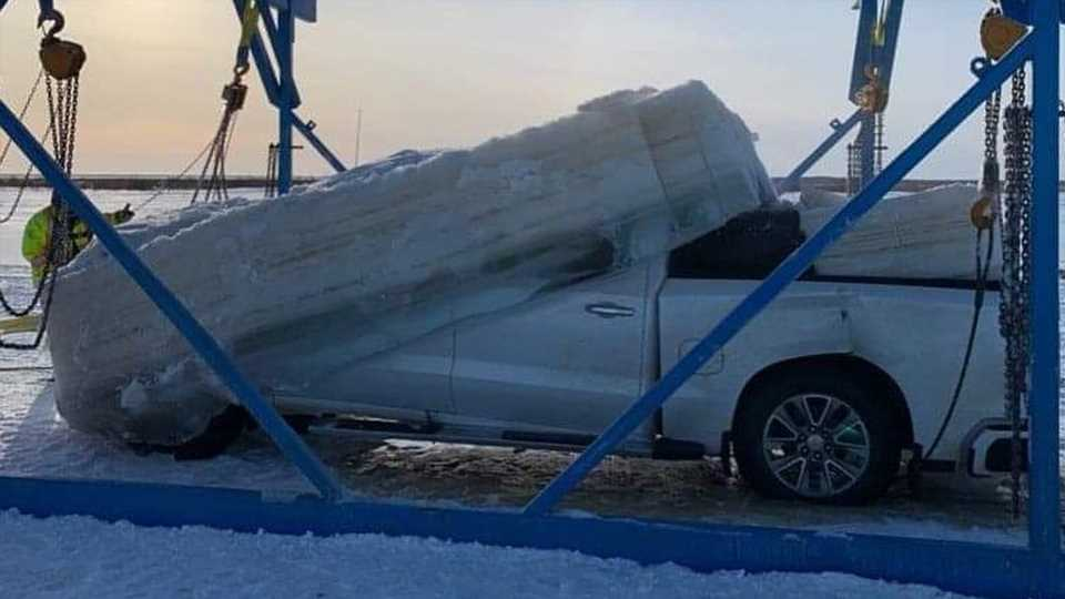 Saving This Frozen Chevy Silverado From a Canadian River Took Skill, Money and Weeks of Planning