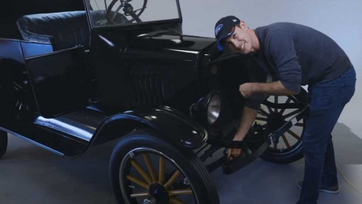 Learn to Drive a Ford Model T From NASCAR Champ Joey Logano