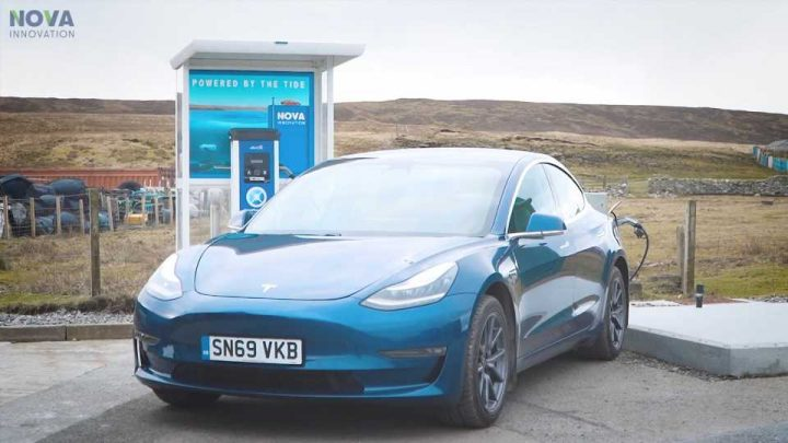 Ocean Waves Alone Power the EV Charger on This Remote Scottish Island