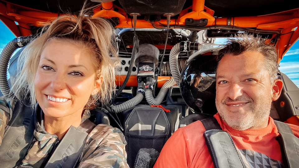 Tony Stewart and NHRA Top Fuel Racer Leah Pruett Are Officially Engaged