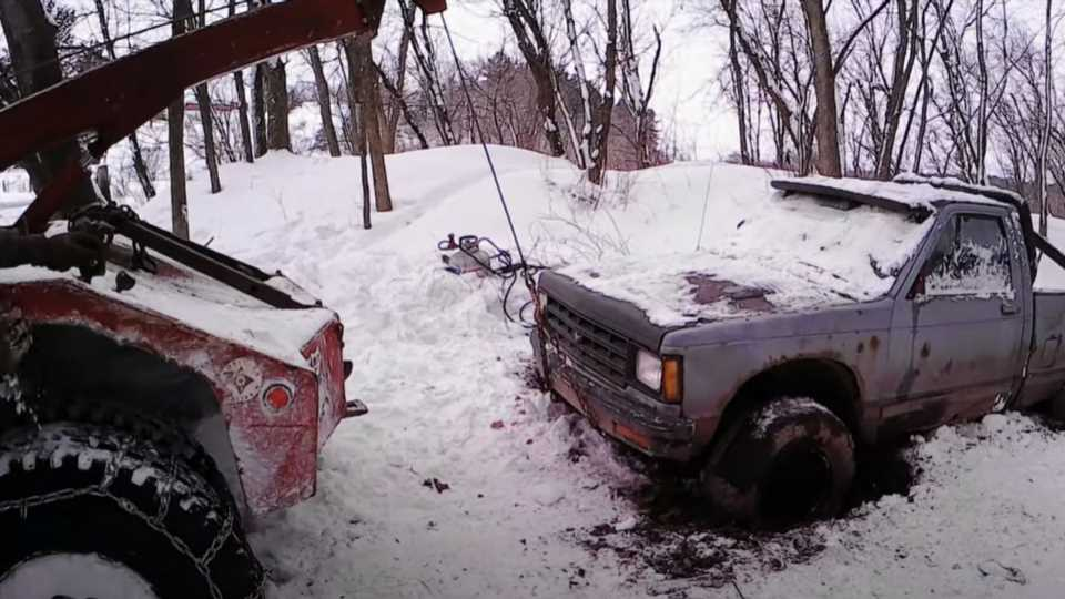 Off-Road Recovery of Chevy S10 Stuck for Three Years Was Never Going to Be Easy