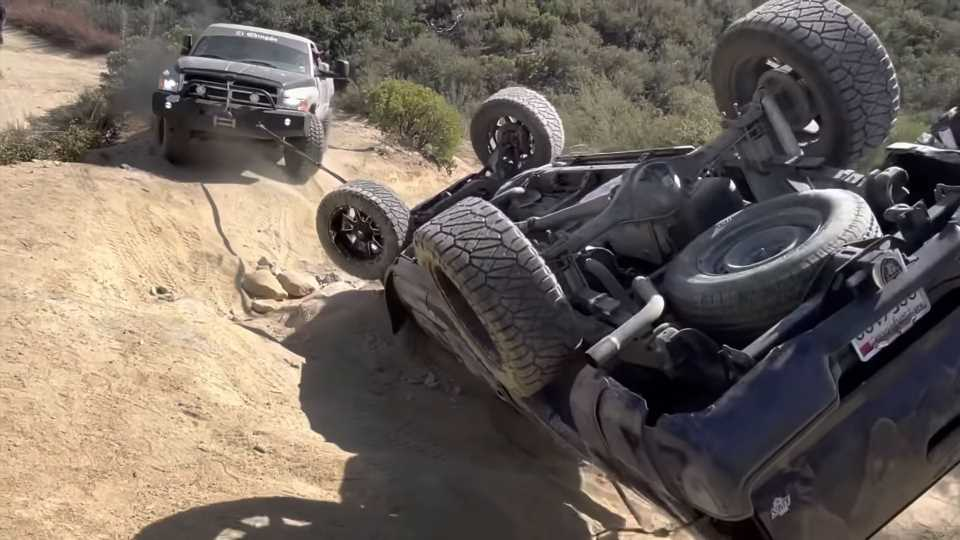 Rolled Toyota Tacoma Gets Absolutely Destroyed During Off-Road 'Recovery' Effort