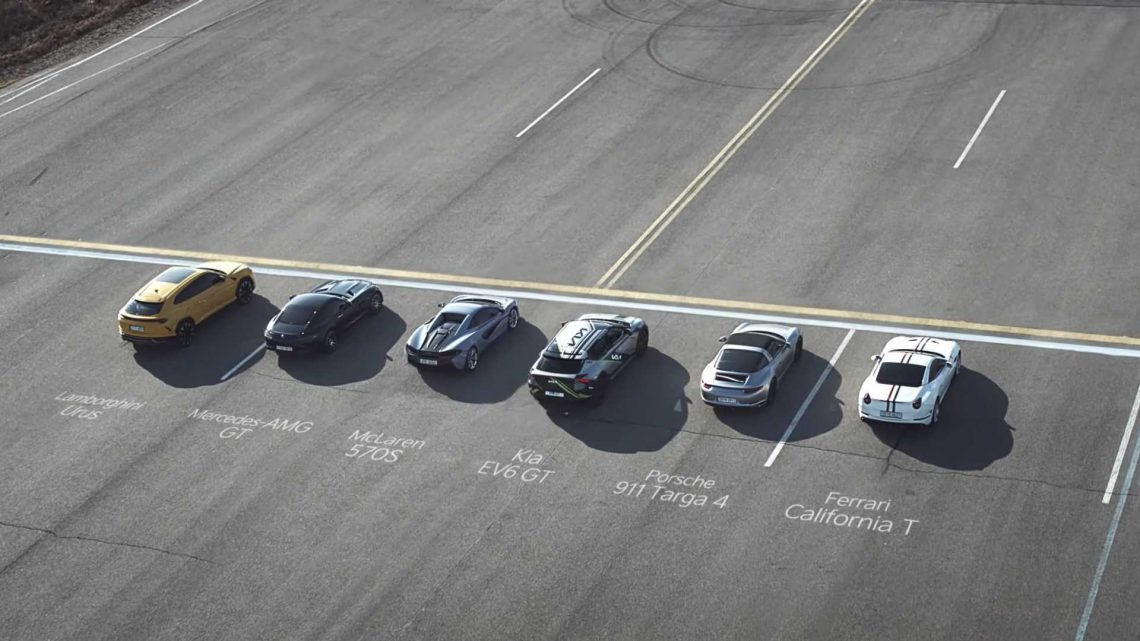 See Kia Race The EV6 GT Against 4 Performance Cars And A Supercar