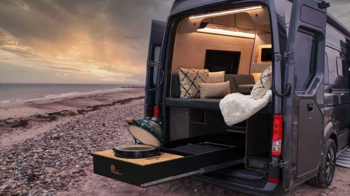 Loef's Latest Camper Van Comes With Slide-Out Ceramic Grille, Minibar