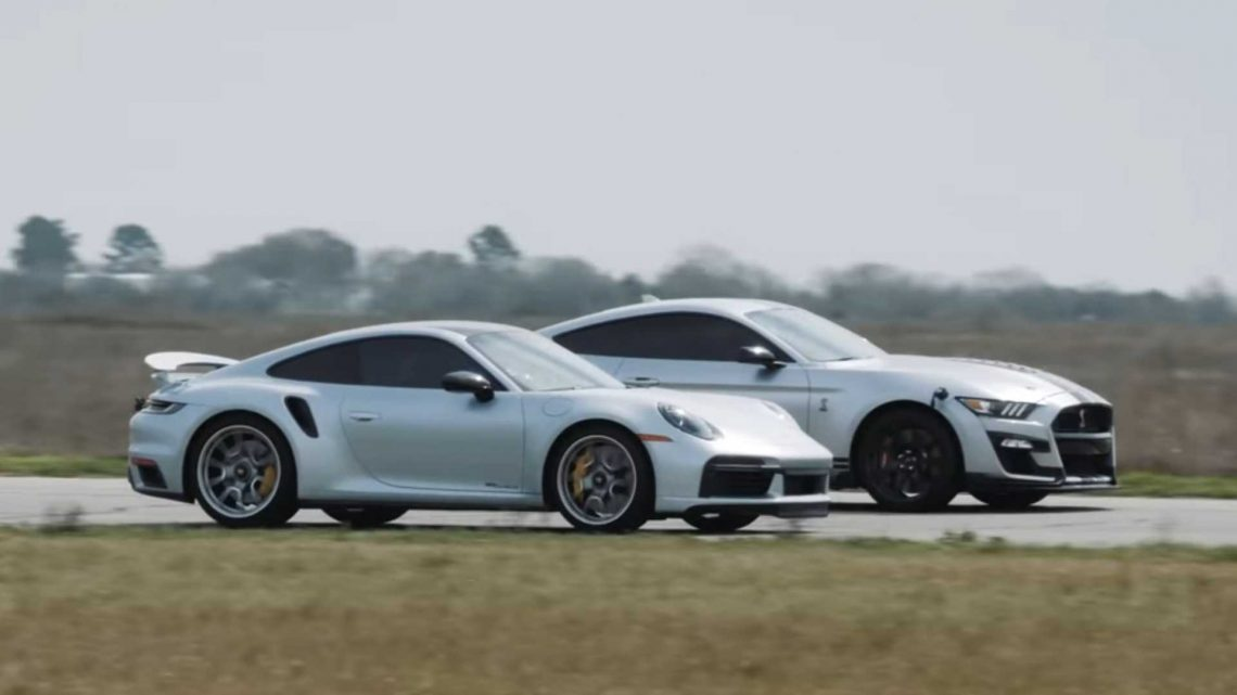 Hennessey Pits 1,000-HP Shelby GT500 Against New Porsche 911 Turbo S