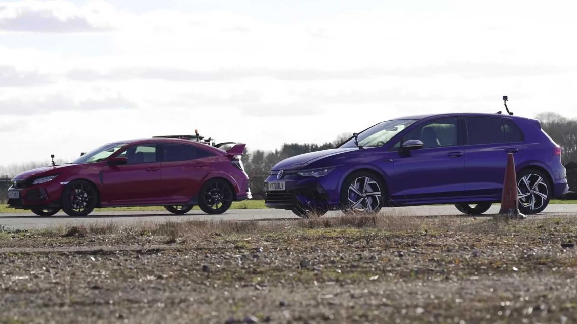 R You Ready? VW Golf R Fights Honda Civic Type R In Drag Race