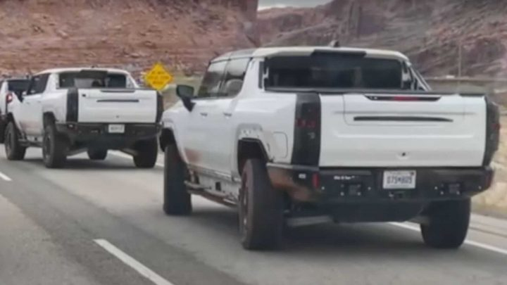 Four Hummer EV Prototypes Spotted Dancing In Public With CrabWalk