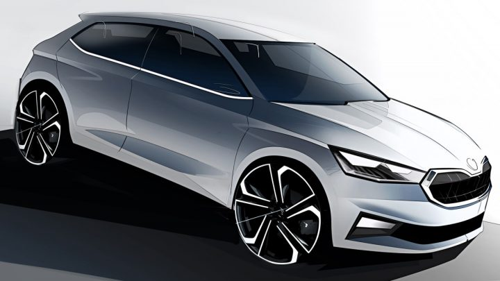 New 2021 Skoda Fabia teased in official sketches